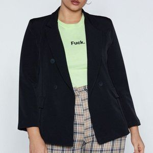 NWOT Nasty Gal Double Breasted Blazer